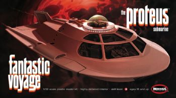 Fantastic Voyage Proteus 1:32 Scale Model Kit Moebius Models